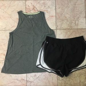 Calvin Klein Tank Top + Tek Gear Shorts